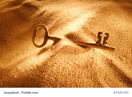 Ein Schlüssel. Dranbleiben.